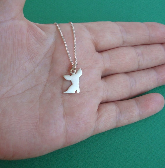chihuahua necklace sterling silver by zoozjewelry