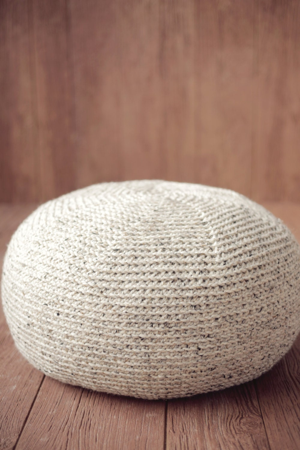 Crochet Ottoman : CROCHET PATTERN Knit POUF Pillow Ottoman Cushion by TooCuteCrochet