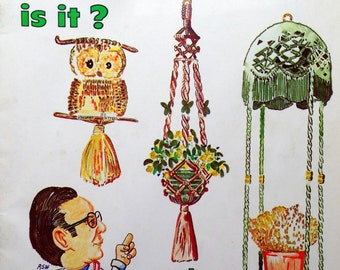1977 What in the MACRAME is it? CRAFT MAGAZINE