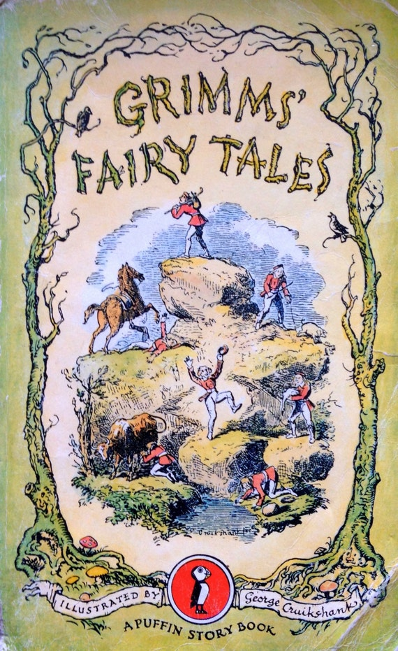 Illustrated Book Cover Notes : Grimms fairy tales illustrated by george cruikshank