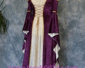 "Medieval Gown, Elvish Wedding Gown, Handfasting Dress, Renaissance Gown, Medieval Dress, Gothic Dress, Prom Dress, LARP Dress ""Melissa"""