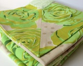 Green Rose Lovey Blanket. Baby or Toddler Cuddle Blanket
