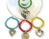 Heart Wine Glass Charms, Gifts for Wine Lovers Housewarming Host Hostess Under 10, Wedding Bridal Shower Gifts, Stocking Stuffers