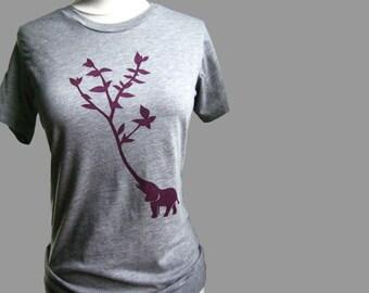Elephant Tree Women's T Shirt Gray