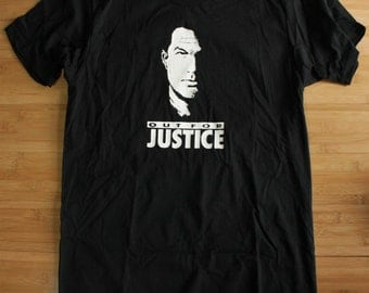 Steven Seagal Out For Justice T-shirt  S, M, L, XL, XXL
