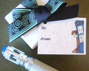 Doctor Who Gift Tags - 15 Tags for Any Occasion - Tenth Doctor