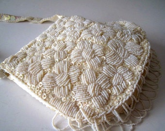 Mr. Ernest Beaded and Sequined Handbag Made in Hong Kong 1950s