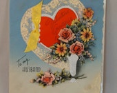 Vintage To My Husband Valentine Card