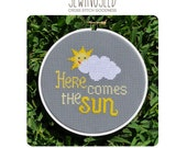 Cross Stitch Pattern, Here Comes the Sun, Instant Download