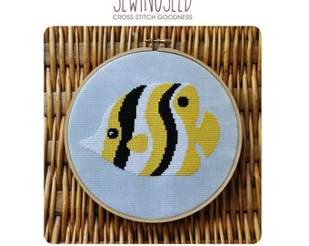 Tropical Fish Cross Stitch Pattern Instant Download