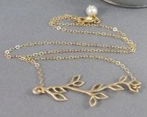 Gold Hazelbranch,Necklace,Gold,Gold Necklace,Branch,Boho,Gold Branch,Bride,Branch Necklace,Gold Branch,Leaf Necklace,Lea, valleygirldesigns