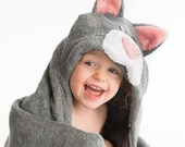 Cat Hooded Towel