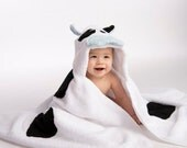 Boy Cow Hooded Towel