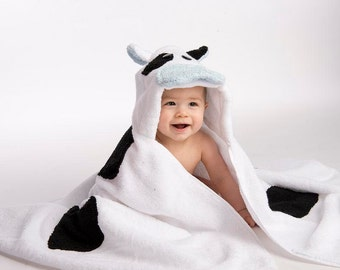 Boy Cow Hooded Towel
