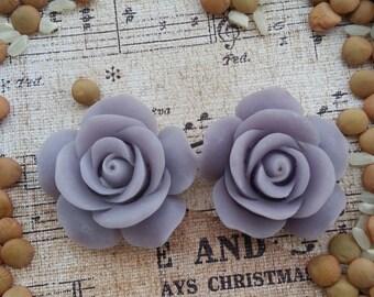 Large Bridal Plugs, Prom Plugs, Large Flower Plugs, Light Purple Roses