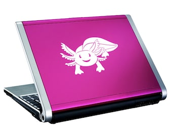 Axolotl Vinyl Decal / Axolotl Laptop Sticker / Car Window Axolotl  #660