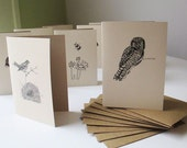 Note card set. Stationery set. Letter writing set. 10 notecards, your choice. Blank notecards or thank you cards, with or without box.