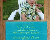 Custom Aloha Hawaiian Birthday Invitation - You send picture and I illustrate and decorate