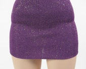 Purple and Gold Metallic Mini Skirt for MSD SD+ Ball Jointed Doll