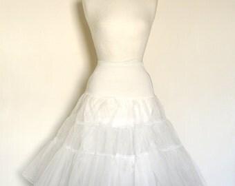 Ivory Off White Tulle Petticoat - Full Fifties Style - Underskirt - Prom - Full Petticoat - Bride - Prom