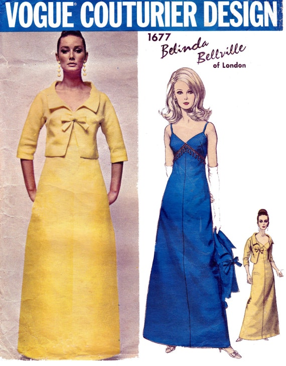 1960s Belinda Bellville pattern - Vogue 1677