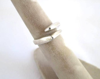 SALE - Sterling Silver Modern Ring Size 8 1/2