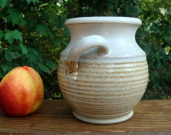 One Handled Pot Overland Stoneware Neutral Vase Kitchen Counter Vase