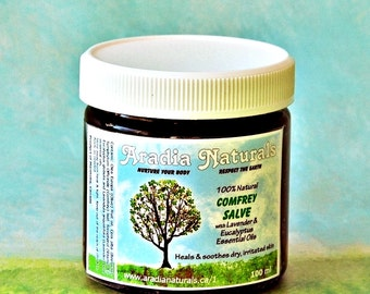 Organic COMFREY SALVE - Gentle Skin Care/Protection with Natural Ingredients & Essential Oils - Great for Problem Skin Eczema, Rashes