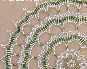 Scalloped Lace Doily Beadwork Pattern/Tutorial - Instant Download