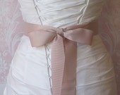 Blush Grosgrain Ribbon, 1.5 Inch Wde, Pale Mauve Ribbon Sash, Pink Bridal Sash, Wedding Belt, 4 Yards