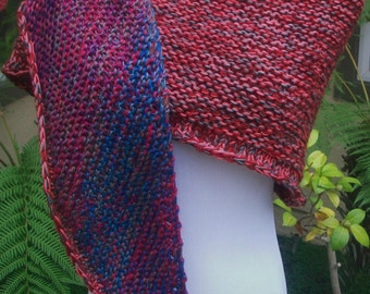Multicolored Medium Worsted Weight Shawlette or Scarf