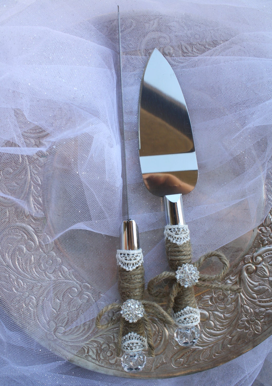 rustic wedding cake serving set wedding cake server and knife set country rustic chic 7205