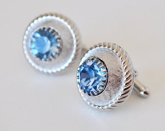 Ice Blue Vintage Cufflinks