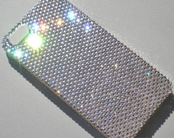 For NEW iPhone SE - Small 12ss Clear Crystal Diamond Rhinestone BLING Back Case handmade with 100% Swarovski Elements