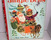 """REDUCED:  Vintage Childrens Book Jingle Bells #553 -  First Edition """"A""""  Little Golden Book - marked 29 cents"""