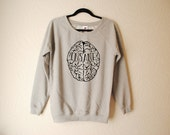 Mens Hand Printed White Insane in the Membrane Sweater