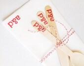 Custom Monogrammed Wedding Napkins and Utensils. Bridal Shower Decor. With Custom Stamp.