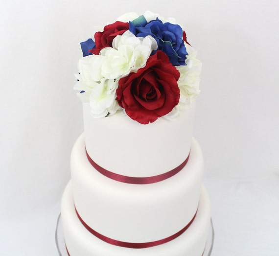 wedding cake toppers red roses items similar to wedding cake topper fourth of july 26588
