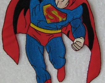 Iron-on Embroidered Patch Superman 7.5 inch