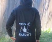 Beer Hoodie - Brew It Yourself - Medium Hooded Sweatshirt - homebrew hoody shirt, sweater oversize  brew, unisex, women, men, ferment
