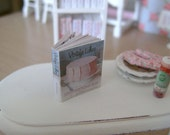 Vintage Cakes - RECIPE COOKBOOK BOOK with 12 Printed Pages inside - Dollhouse Miniature 1:12 Scale
