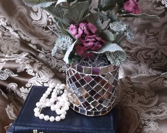 Petite Floral, Burgundy Mosaic, sage and burgundy