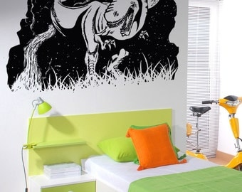 Vinyl Wall Decal Sticker Dinosaur at Night OSAA1576s