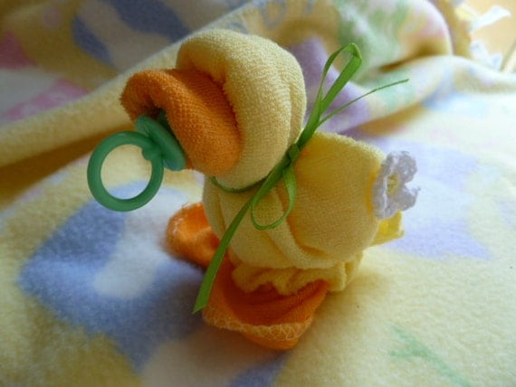 Baby Quackers In Yellow Washcloth Ducks Washcloth