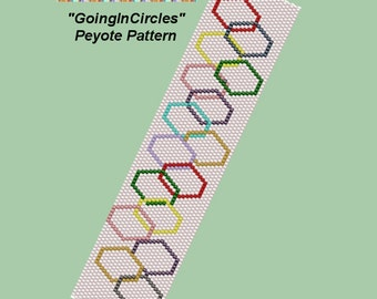 GOING IN CIRCLES Peyote Bracelet Pattern