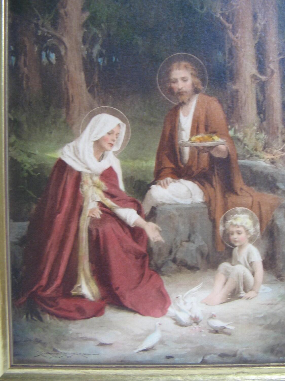 Vintage C Bosseron Chambers Holy Family Religious
