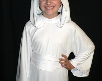 Princess Leia White Gown, Cosplay, Star Wars A New Hope, Child Sized, Episode IV, Custom Made