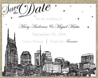 Nashville Skyline Save the Date SAMPLE ONLY