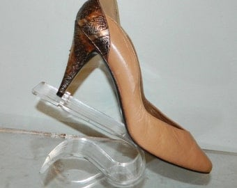 vintage 80s pumps size 9 QUALITY made in Spain leather lining and sole