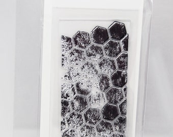 KaiserCraft Background Clear Stamps -- Acrylic -- Hexagons Distressed Shabby Chic